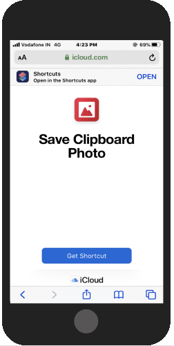 import save clipboard photo shortcut