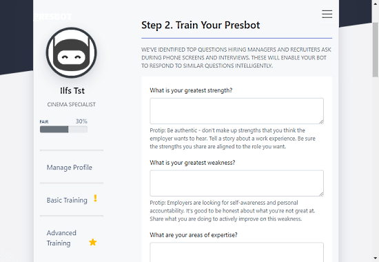 create personal chat bot