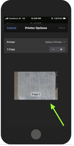 pinch and zoom out the preview to convert doc to pdf