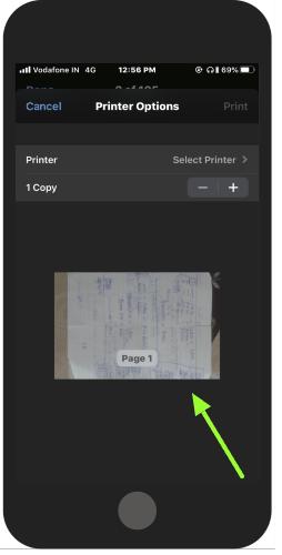 zsuń i pomniejsz podgląd, aby przekonwertować doc na pdf