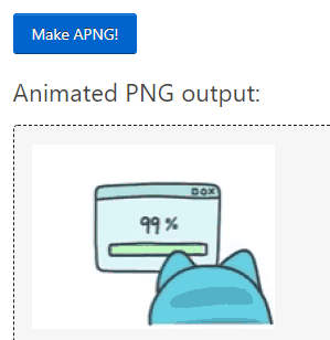 save the output of animated PNG file