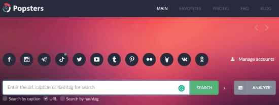 select the Tiktok platform