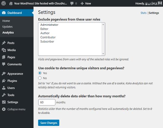 self-hosted analytics for wordpress