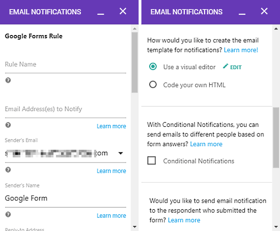 send google forms responses to multiple emails