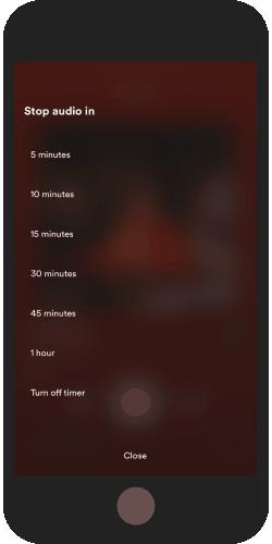 set spotify sleep timer on iPhone
