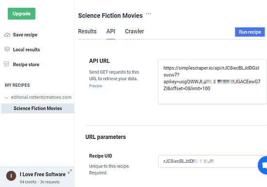 edytuj API scrape