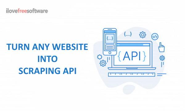 Zmień dowolną stronę internetową w interfejs API zgarniania dzięki temu bezpłatnemu narzędziu do zgrywania stron