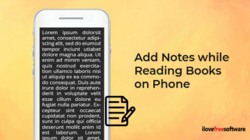 Add Notes while Reading Books on Phone