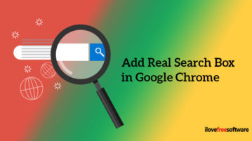 Add Real Search Box in Google Chrome