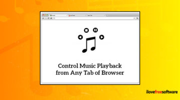 Control Music Playback from Any Tab of Browser