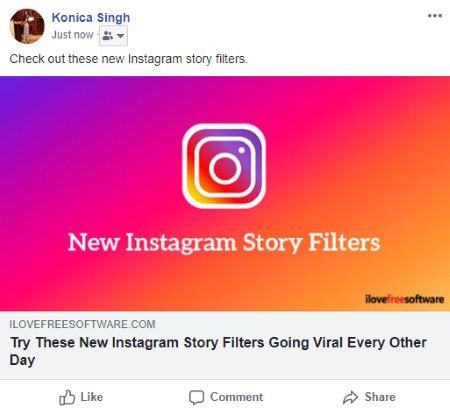 Konwertuj zwykły obraz na klikalną kartę społecznościową online