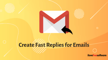 Create Fast Replies for Emails