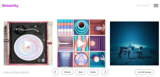 Create a Slideshow of Instagram Profile and Hashtags