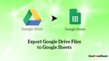 Export Google Drive Files to Google Sheets