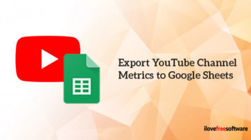 Export YouTube Channel Metrics to Google Sheets