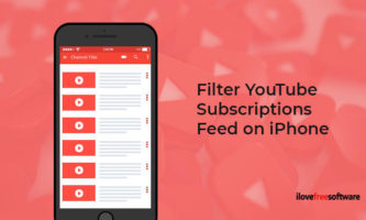 How to Filter YouTube Subscriptions Feed on iPhone?