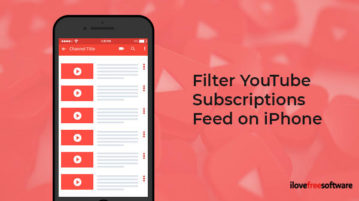 Filter YouTube Subscriptions Feed on iPhone
