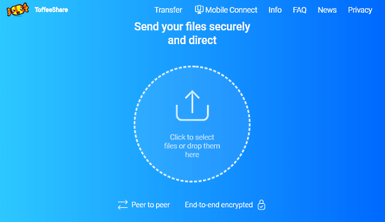 Free Online Unlimited P2P File Transfer Service with Sharing between PC and Phone 1
