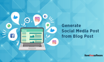 Automatically Generate Social Media Post from Blog Post