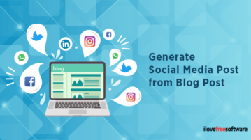 Generate Social Media Post from Blog Post