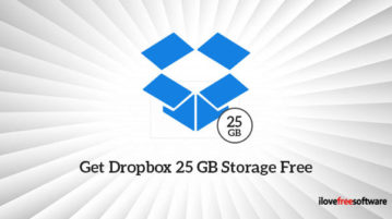Get Dropbox 25 GB Storage Free