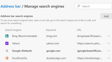 How to Change Default Search Engine in Microsoft Edge Chromium 2