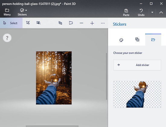 How to Remove Image Background using Paint 3D in Windows 10 4