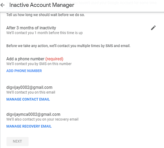 How to Schedule Your Google Account for Auto Delete When Not Used 3