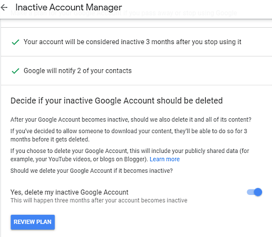 How to Schedule Your Google Account for Auto Delete When Not Used 5