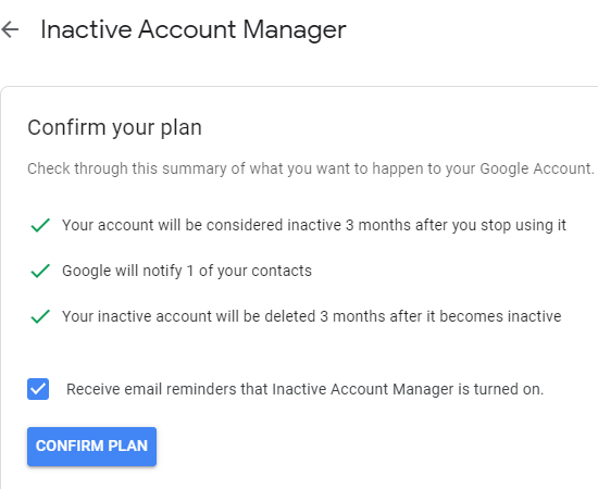 How to Schedule Your Google Account for Auto Delete When Not Used 8