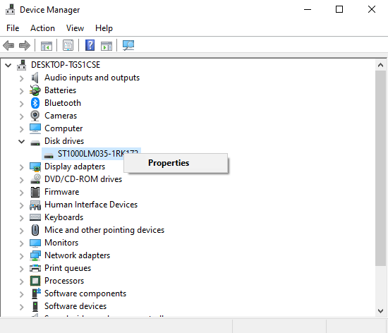 How to check Hard Drive Version on Windows 10 1