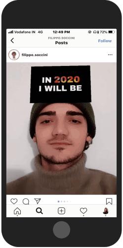 Instagram 2020 Prediction filter