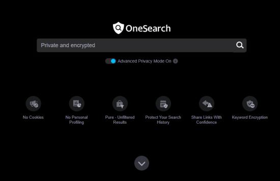 OneSearch to wyszukiwarka zorientowana na prywatność