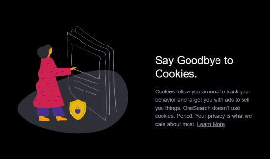 Wyszukiwarka Verizon bez plików cookie