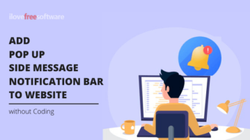 Add Popup, Side Message, Notification bar to Website without Coding
