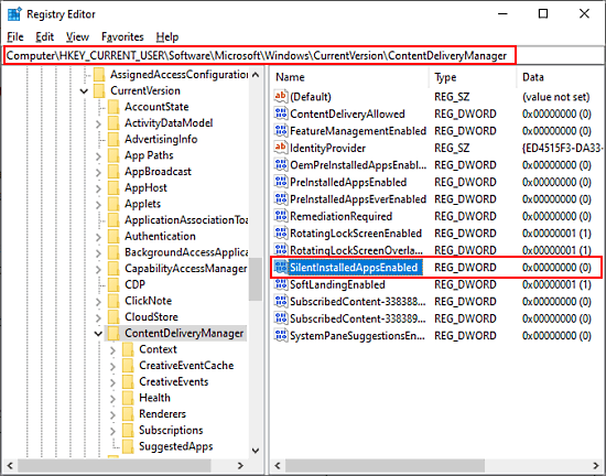 Block Windows 10 from Automatically Installing Suggested Apps