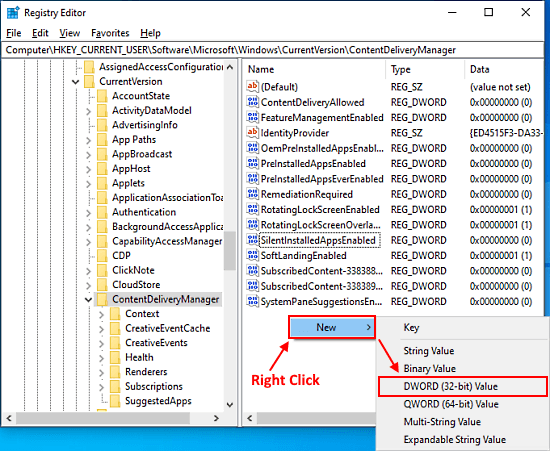 block auto installation of suggested apps on windows 10