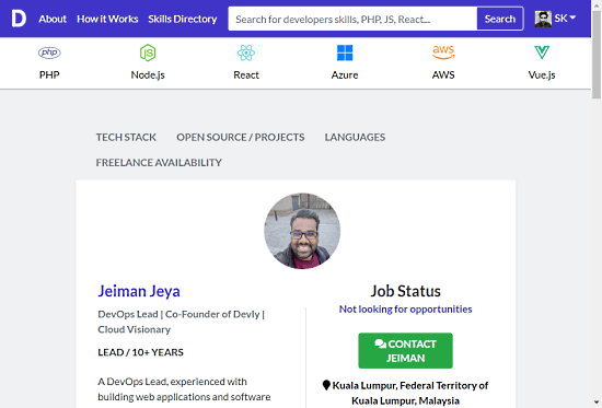 behance for developers - create developer skillset profile to get hired