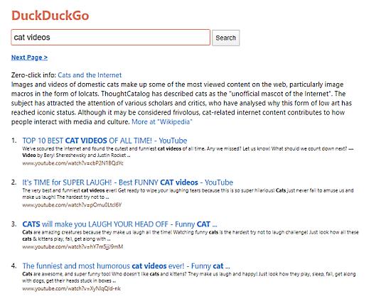 duckduckgo lite