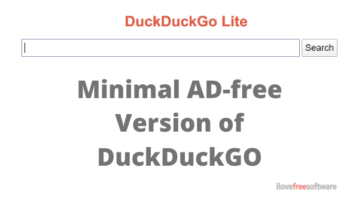 DuckDuckGo Lite: Minimal Ad-free Version of DuckDuckGo