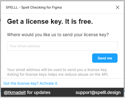 enter the license key received in email