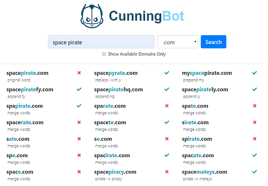 Find Available Domains using Related Words