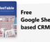 Free Google Sheets based CRM to Track Sale Opportunities