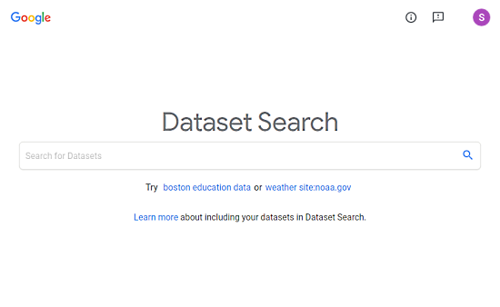 How to use Google Dataset Search