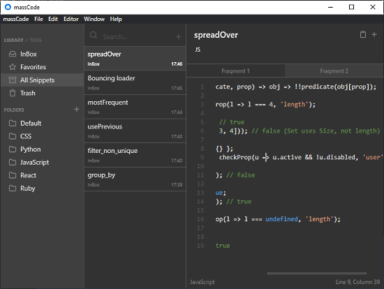 open source code snippet manager