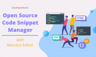 Open Source Code Snippet Manager with Monaco Editor for Windows