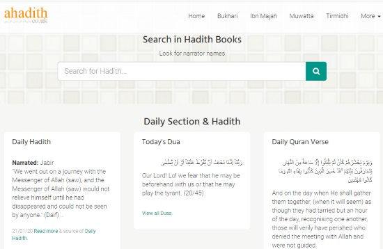read hadith online in English