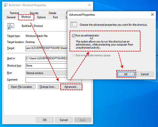 Run Batch file as Administrator without Prompt