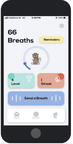 track your breathing progress