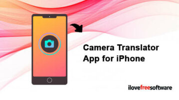 Camera Translator App for iPhone